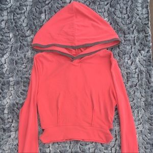 FP Movement Pink Hoodie Cropped Cut Out Detail M